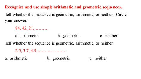 Review For The Test Find Both An Explicit Formula And A Recursive Formula For The Nth Term Of