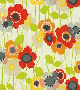 Home Decor Print Fabric- Waverly Pic A Poppy Poppy Jo-Ann