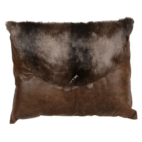 rustic bedding brown bear faux fur envelope pillowblack