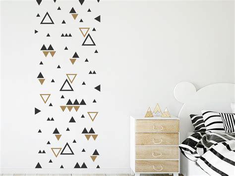 Wandtattoo Kinderzimmer Dreiecke by Wandtattoo Dreiecke Zweifarbig Wandtattoo De
