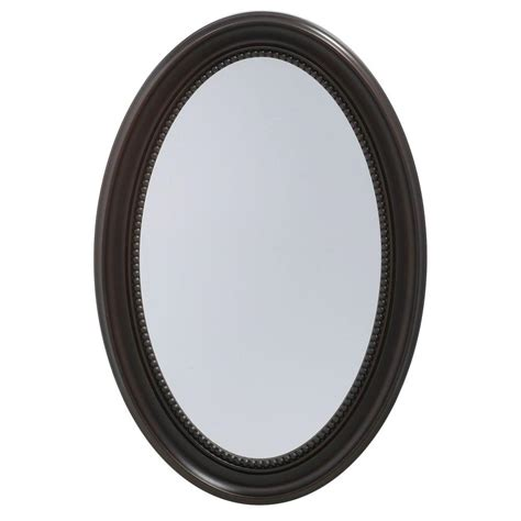 framed oval recessed medicine cabinet pegasus 20 in w x 30 in h recessed or surface mount oval