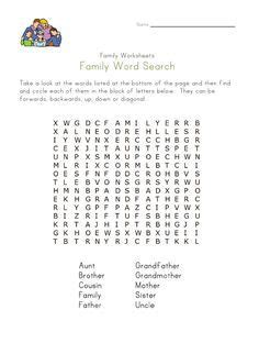 family word search caca palavras em ingles ingles