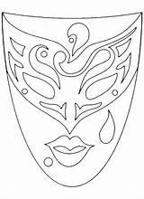Mask Masks Venetian Drawing Template Coloring Adult Visit Icolor sketch template