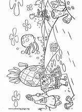 Spongebob Coloring Bikini Bottom Patrick Squidward Bob Squarepants Underwater Colouring Characters Superhero Esponja Ausmalbilder Birthday Kolorowanki Tentacles Transylvania Patrik Ausmalen sketch template