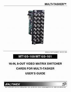 Mt105-101 Manuals