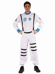Adult White Spaceman Astronaut Mens Fancy Dress Costume ...