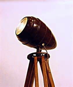 Vintage Magnifying Lamp by Industrial Lighting Tripod Floor Lamp Spotlight With By
