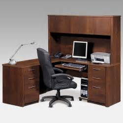 bestar embassy l shaped desk with optional hutch at hayneedle