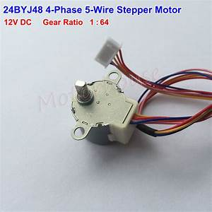 Gear Stepper Motor 24byj48 Dc 12v 4 Phase 5 Wire Geared
