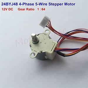 24byj48 Dc 12v 4 Phase 5 Wire Gear Stepper Motor 1 64