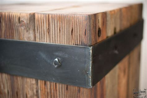 reclaimed beam table bistro table real industrial edge furniture custom industrial