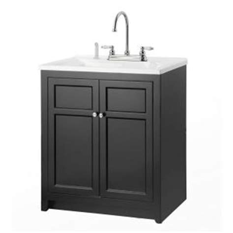 Utility Cabinet Home Depot by Foremost Conyer 30 In Laundry Vanity In Black And Premium