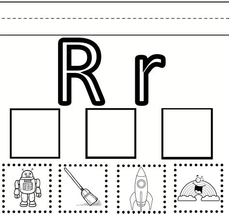 preschool learning letter r worksheet free printable 146 | r practice