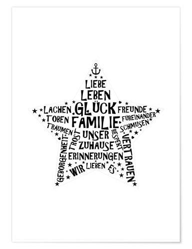 zeit raum kunstdrucke familienstern poster