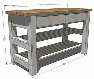 ana white build michaela39s kitchen island diy projects With how to make kitchen island plans