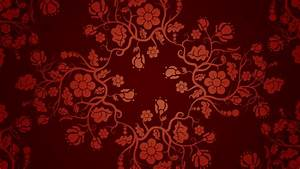 Floral Texture Patterns Red Background Vector Art - WallDevil