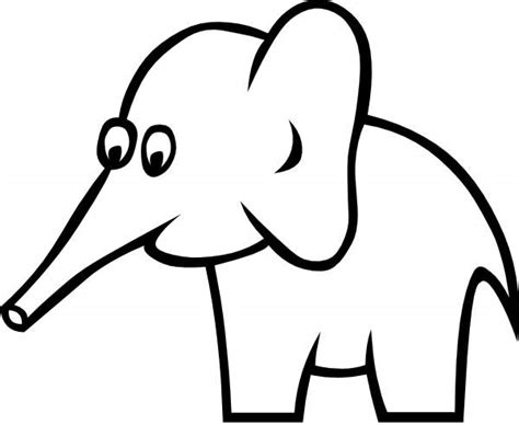 Coloring Gajah by Elephant Clipart Black And White Clipartion