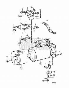 Volvo Penta Exploded View    Schematic Starter Motor And