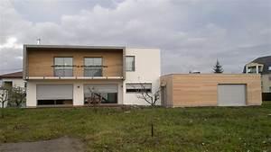 maison a ossature bois a toit plat abt construction bois With maison toit plat en l 2 maison neuve toit plat
