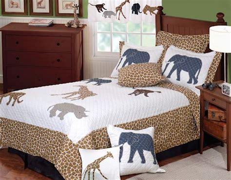 kids animal print bedding twin fullqueen quilt sets brown