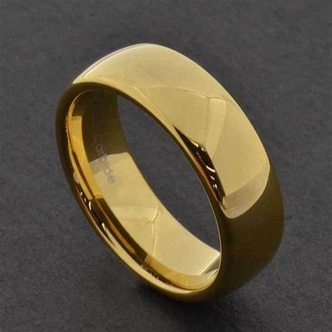 7mm gold tungsten men s wedding band ring sz7 13 ebay