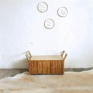 Banc Coffre Enfant : banc coffre jouets vintage en rotin atelier du petit parc ~ Teatrodelosmanantiales.com Idées de Décoration