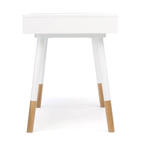 bureau blanc et bois bureau design blanc sonnenblick par drawer fr