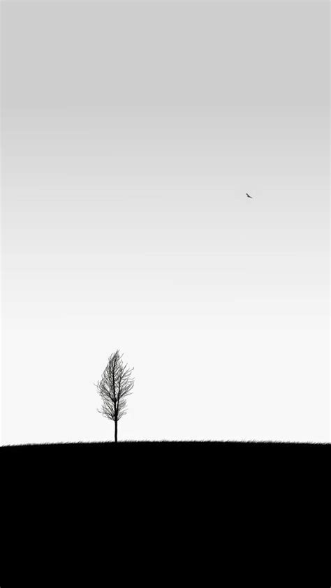 iphone tree art simple minimalistic white wallpaper
