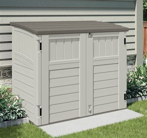 suncast bms2500 horizontal storage shed 2 ft 8 1 4 l x 4