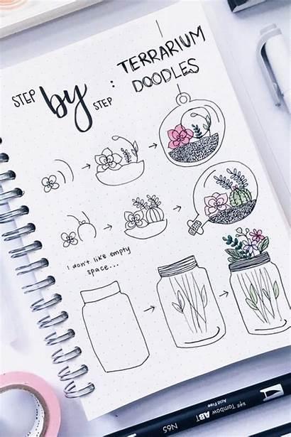 Doodles Flower Bujo Journal Step Bullet Amazing