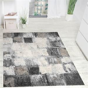 Teppich Modern Wohnzimmer : teppich modern webteppich hochwertig meliert kariert in ~ Lizthompson.info Haus und Dekorationen