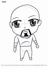 Cage Luke Coloring Pages Chibi Characters Draw Step Drawing Hatcher Abby Fortnite Trending Days Last sketch template