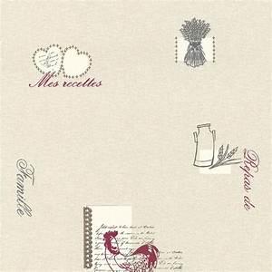 Papiers Peints Cuisine : papier peint repas de famille gris rouge papier cuisine ~ Melissatoandfro.com Idées de Décoration