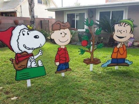 peanuts yard signs yard art christmas yard decorations