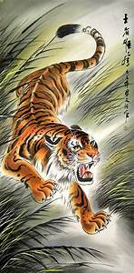 Donwn-Hill Tiger - Chinese tiger painting