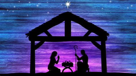 fulllarge nativity  night religious christmas