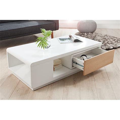 Table Basse Blanche En Bois  Maison Design Bahbecom
