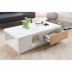 Table Laqué Blanc : table basse zaggy bois laqu noir et blanc ~ Teatrodelosmanantiales.com Idées de Décoration