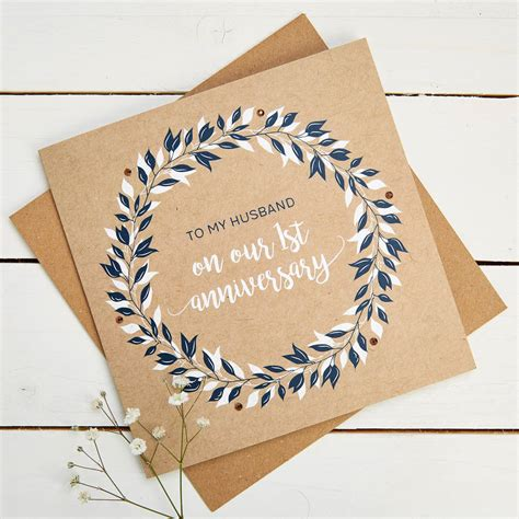 Start a free trial today to send unlimited printable anniversary cards online from the comfort of your home. husband 1st wedding anniversary card by norma&dorothy | notonthehighstreet.com