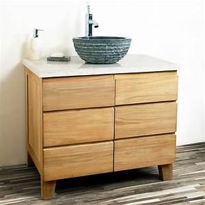 Commode Pour Salle De Bain : le meuble de salle de bains en teck ~ Teatrodelosmanantiales.com Idées de Décoration