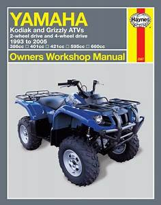 Yamaha Kodiak Grizzly 400 450 600 660 Atv Quad Repair Manual 2567