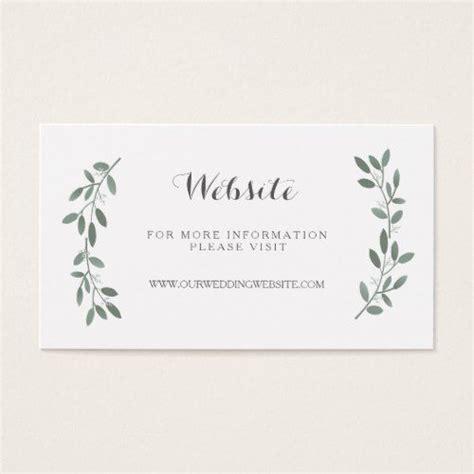 elegant eucalyptus wedding website insert card zazzle