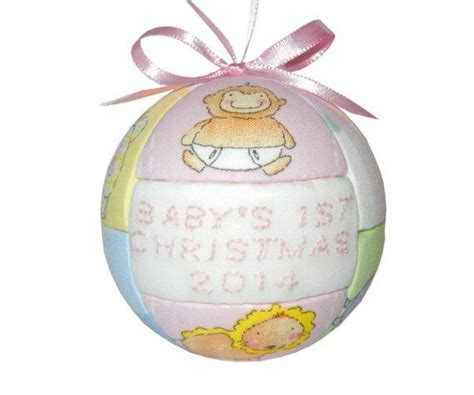 2014 babys first christmas handmade ornament by