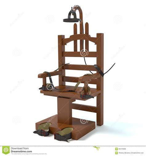 execution en direct chaise electrique chaise électrique illustration stock image du punition