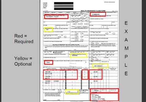 cms 1500 claim form and ub 04 form and guide november 2010
