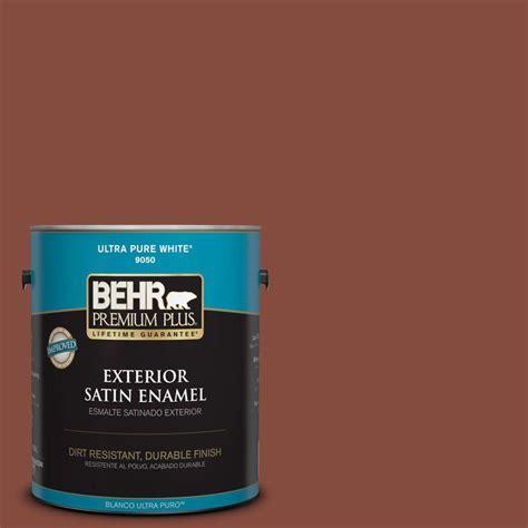 Behr Premium Plus 1gal #s1607 Red Chipotle Satin Enamel