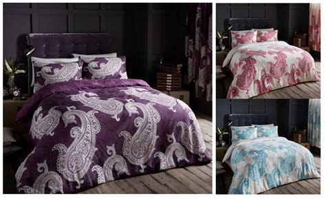 Paisley Printed Duvet Cover Floral Bedding Set