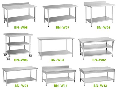 commercial stainless steel work table for sale used in the