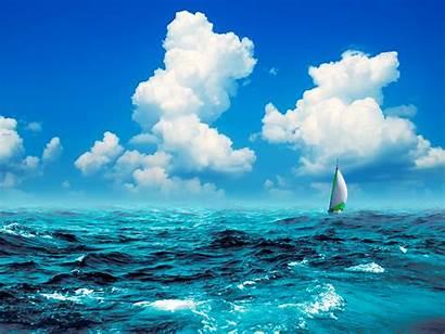 Rough Seas Sailing Sea Sail Ocean Sailboat