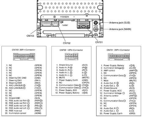 toyota a56828 unit pinout diagram pinoutguide